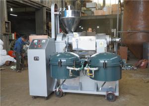 China Physical Processing Screw Oil Press Machine , Peanut Oil Press Machine 300-375kg/H on sale