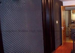 China High Density Acoustical Foam Panels Black Ktv Studio Acoustic Insulation Materials on sale