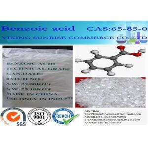 China White Mercerized Flake Benzoic Acid Food Additive CAS 65-85-0 C6H5COOH on sale