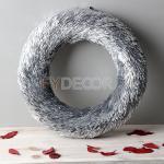 Christmas Wreath Glitter Handicraft Hanging Silver Door Wreath