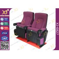 OEM Folded 3d 4d 5d Movie Theater Chairs Red Color Movie Theatre Furniture