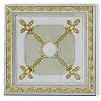White Pu Decorative Ceiling Medallions , Square Ceiling Medallion