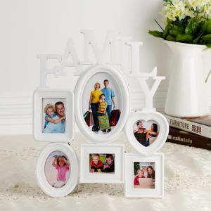 China Home decoratio 5 photos Big Plastic Wall Hanging Family Photo Frame Family Picture Frame on sale