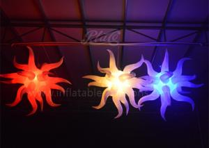 China Sea Urchin Fish Shaped Inflatable LED Balloon Large Colorful For Ceiling Decoration on sale
