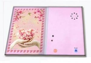 China Recordable Musical Paper Greetings Cards with custom sound and printing for promotion on sale
