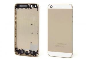 China 100% Fit iPhone 5S Housing Cover , High Copy Gold Battery Case Assembly on sale