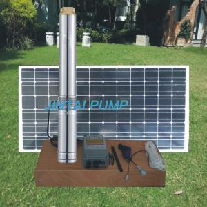 China 4 inch DC Solar Deep Well Submersible Pump with Plastic Impeller , JC4-10.0-45 on sale