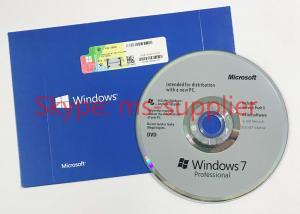 China Microsoft Original Windnows 7 Professional 32 / 64Bit DVD / CD  Media Retail Online Activation on sale