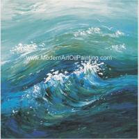 China Handmade Modern Art Oil Painting Seascape Canvas Wall Art For Interior Decor on sale