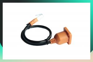 China Pure Copper RJ45 Patch Cable Extension Line With Ear Fixed With Screw Hole Male on sale