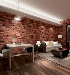 China Contemporary economical waterpoof  3D brick foam Vinyl Wallpaper on sale