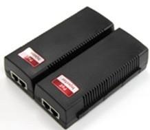China 1-Port  10 / 100M Industrial Media Converter POE Injector with 15.4W , POE Adapters on sale