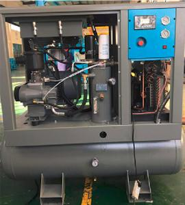 China Integrated 7.5 Hp Rotary Screw Air Compressor 5.5Kw With Thermostatic Valve on sale