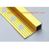 China High Gloss Polished Gold Aluminium Square Edge Ceramic Tile Trim 10mm x 2m Length on sale