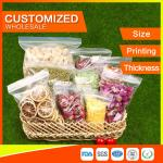 China Packing Ziplock Bags Customized LDPE polybags food packing clear grip seal wholesale