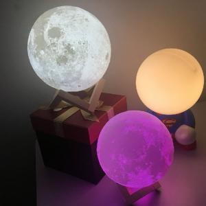 China Blue tooth 3D Moon Lamp USB LED Night Light Moonlight Xmas Gift Touch Sensor Color Changing on sale