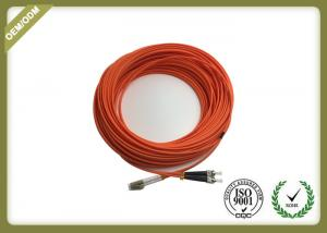 China Long Meter Fiber Optic Patch Cord LC - ST Duplex Multimode With LSZH Orange Jacket on sale