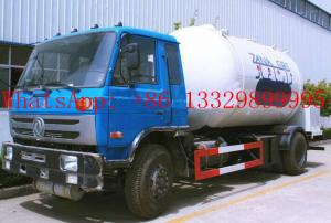 China 10000L LPG Tanker Truck with LPG Refilling Truck on sale