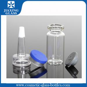 China 10ml Clear Empty Glass Vial With Flip Off Cap / Stopper / PVC Dropper on sale
