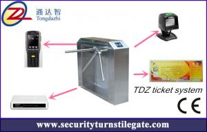 China Tripod turnstile Electronic Ticketing Systems , 1D 2D Bar Code Support on sale