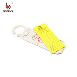 China Adhesive Safety Warning Signs , Plastic Material Electrical Lockout Tags on sale