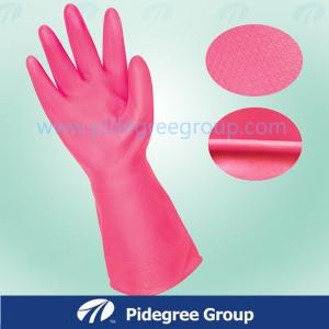 China 120g Household PVC Vinyl Long Purple Gloves on sale
