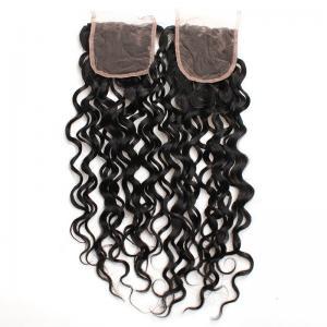 China 8 to 20 Malaysian Natural Wave Lace Closure 100% Real Virgin Human Hair Material on sale