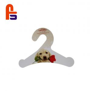China Cute Dog Pattern Paper Coat Hangers , Custom Made Hangers Screen Printing on sale