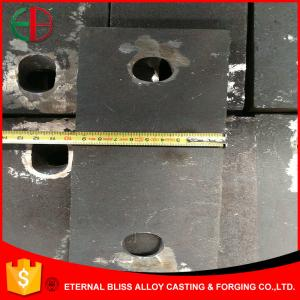 China EN-GJN-HV600(XCr23) High Cr White Iron Casting Parts Impact Liners 20mm Thick EB11029 on sale