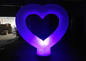 China 2.2 Meter Inflatable Light Balloon Heart Shape For Wedding Decoration on sale