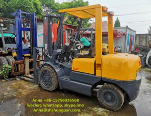 China TCM FD30 Used 3 Ton Forklift Truck Japan Made Hydraulic System With Side Shift on sale