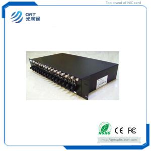 China Reliable 10/100/1000M Rack Mounted Fiber Optical Media Converter with 16 sloth on sale