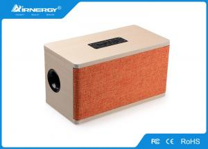 China Wireless Stereo Wooden Bluetooth Speaker Rechargeable With SD/TF Card Slot on sale