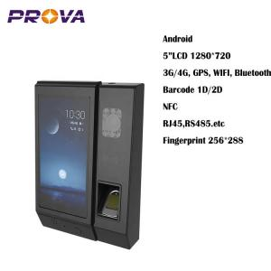 """China 5""""LCD 1280*720 Biometric Fingerprint Scanner Device Convenient Using on sale"""