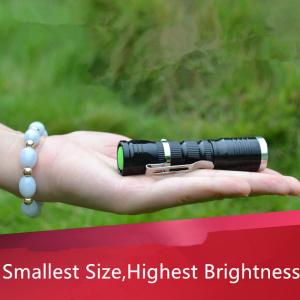 China Rechargeable 14500/AA Dry Battery Powered CREE Q5 Waterproof Camping Led Flashlight on sale