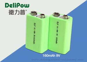 China Smart 160mAh Nimh 9v Rechargeable Battery 6F22 With UL / CE / ROHS  on sale