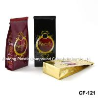 Square Taped Bottom Tin Tie Coffee Packaging Bags, Food Grade Side Gusset Bag