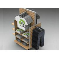 Strong Flooring Slatwall Shelves Shop Display Stands With Silver Aluminum Slot
