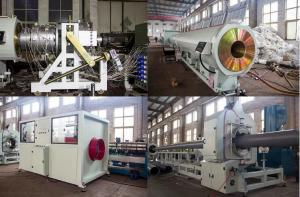 China High Output PVC Pipe Production Line Double Screw Extruder Low Electric Consumption on sale