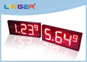 China Professional Digital Gas Price Signs / Electronic Gas Price Signs High Definition on sale