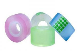 China OPP Stationery Tape Clear Cellophane Tapes For Mending , Repairing on sale