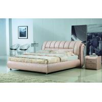 China home furniture modern leather bed  8131 on sale