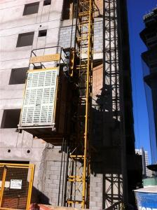 China Electric Construction Hoist Elevator Single Cage , Building Lift on sale