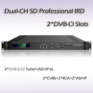 China UDPおよびRTP/RTSPの出力のRIS1502 2チャンネルSD専門IRD IP (1*MPTS及び8*SPTS) on sale