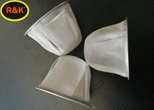 China Multilayers Wire Mesh Cap , Metal Mesh Screen Filter For Fuel Refueling Equipment on sale