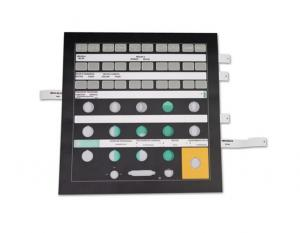 China 0.125mm / 0.188mm PET Membrane Switch With Gold Plated Metal Dome on sale