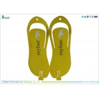 Yellow Disposable Flip Flops High Density Slippers For Men Size 12
