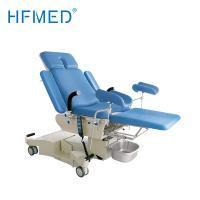 Electro Hydraulic Gynecology Examination Table , Hospital Obstetric Delivery Bed With Big Castors