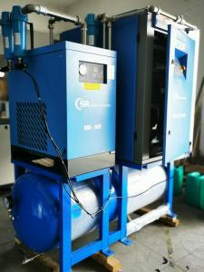 China Double Stage Horizontal Air Compressor / OEM Oil Free Air Compressor  on sale