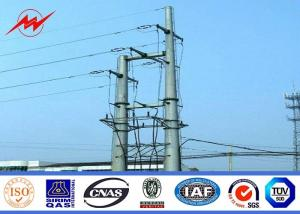 China 69kv Transmission Line Electrical Power Pole 35 Ft 1250 Kg Breaking Load Anti Rust on sale